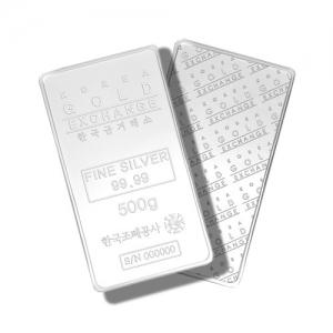 한국조폐공사 품질인증 500g 실버바