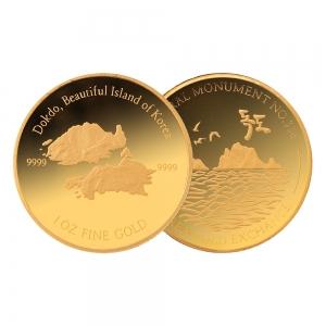 1온스 골드 독도 불리온 메달