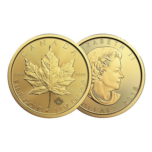 2018 1온스 골드 메이플 리프 불리온 주화(Coin) 50$(CAD)