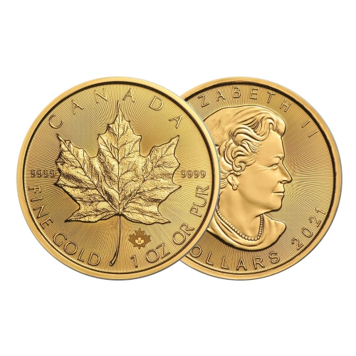 2021 1온스 골드 메이플 리프 불리온 주화(Coin) 50$(CAD)